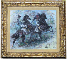HOLESCH Polo Players Oil Painting