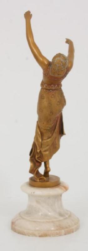 Tarantella French Art Deco Cold Painted Bronze Figurine Sculpture by Joe Descomps