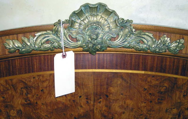 Empire Revival Neoclassical Queen Bed