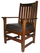 STICKLEY Arts & Crafts Mission Oak Armchair
