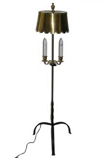 Georgian Style Wrought Iron Brasss Floor Lamp