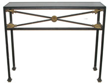 French Directoire Wrought Iron Sofa Table