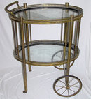 Antique Brass Cocktail Bar Cart