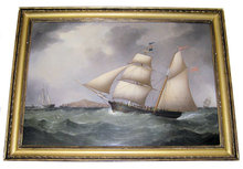 SAMUEL WALTERS British Ship Painting