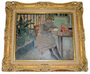 1906 LOUIS CHARLOT Figural Oil Painting