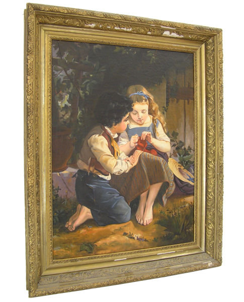 Le Leçon de Tricot After Emile Munier
