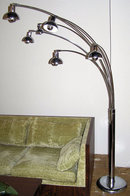 Mid-Century Modern Chrome 6-Light Floor Lamp