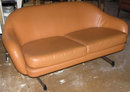 Mid-Century Modern VIKO Leather Loveseat