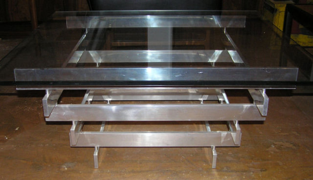 Paul Mayen Aluminum Cocktail Coffee Table