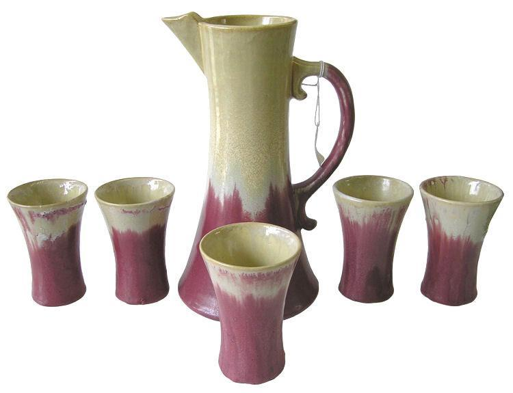 Fulper Arts & Crafts Chocolate Pot Set