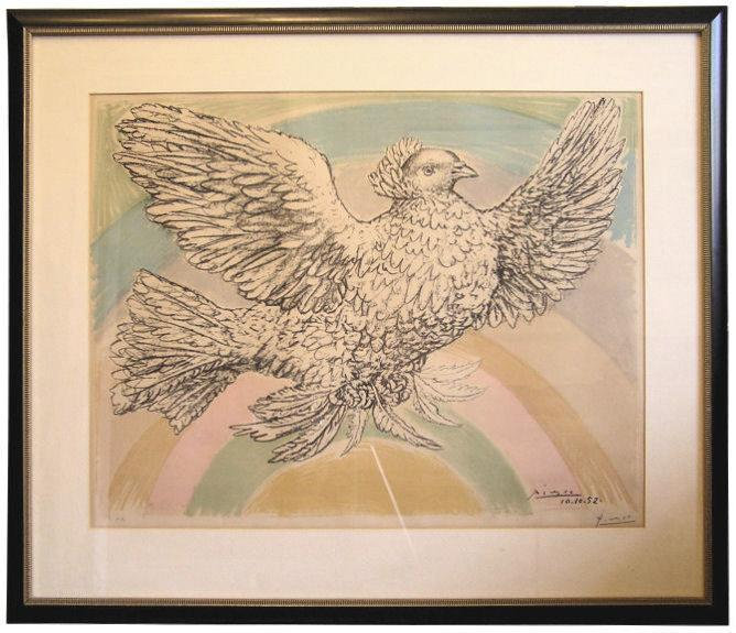 Picasso Colombe Volant Artist Proof Lithograph (Bloch 712) from 1952