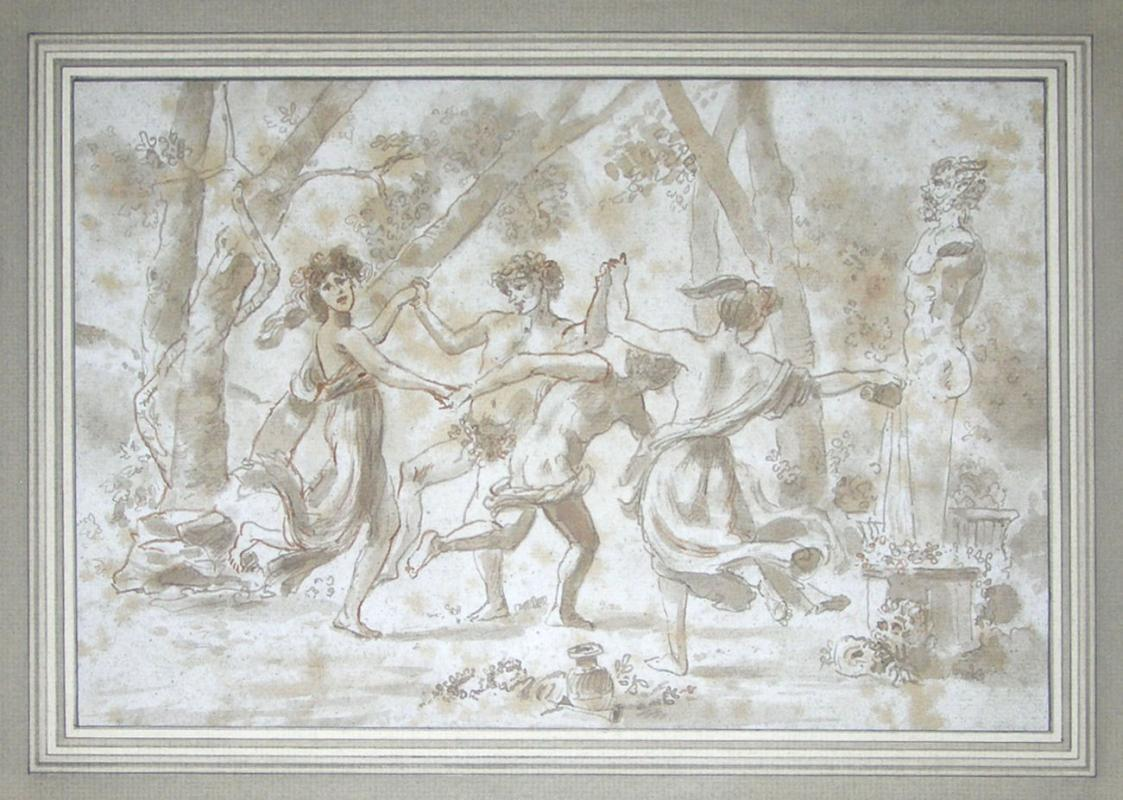 French School Roman Bacchanale Painting
