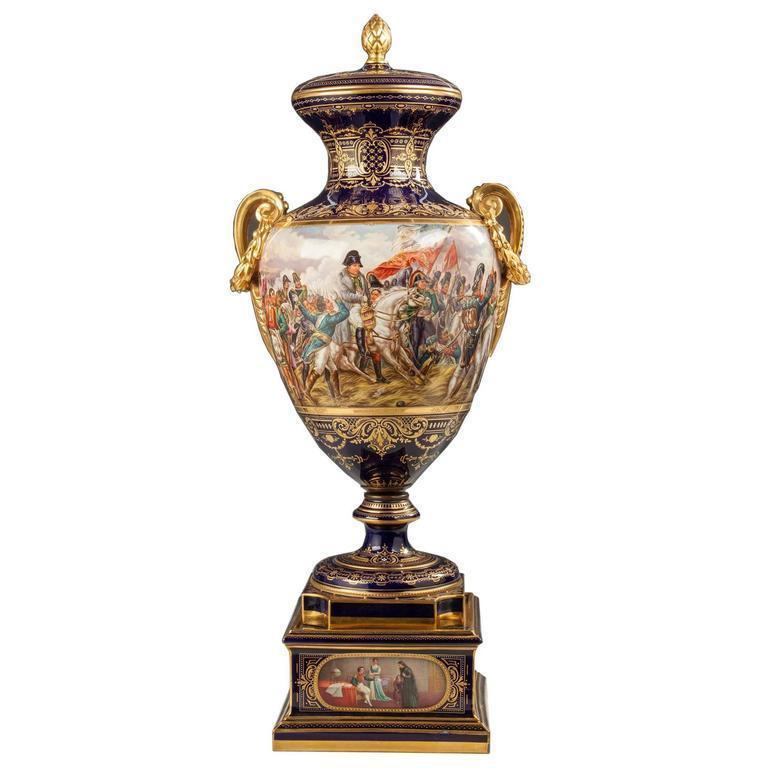 Viennese Napoleonic Porcelain Urn