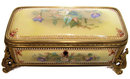 Antique Jewelled Porcelain Jewelry Box