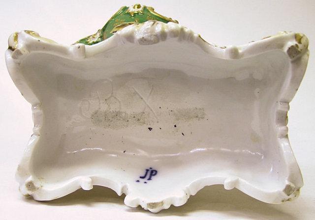 Pair Jacob Petit Porcelain Cornucopia Vases