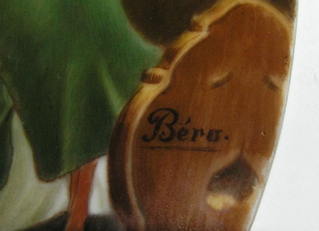 Bero Signed KPM Porcelain Plaque