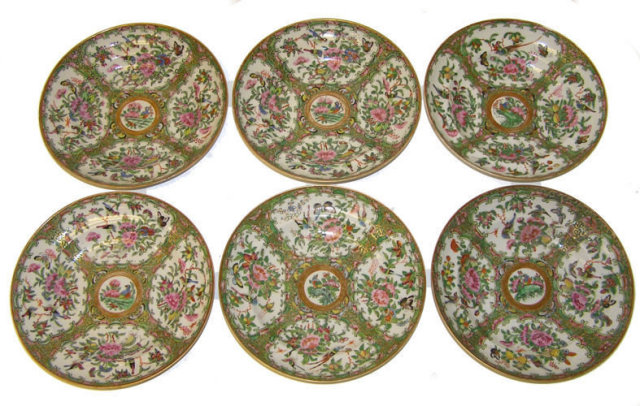 16 pcs Rose Medallion Chinese Porcelain
