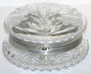 Round Cut Glass Jewelry Dresser Box
