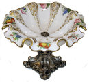 Bohemian Silver & Cased Glass Compote