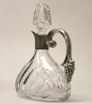 S&F Sterling & Cut Glass Wine Decanter