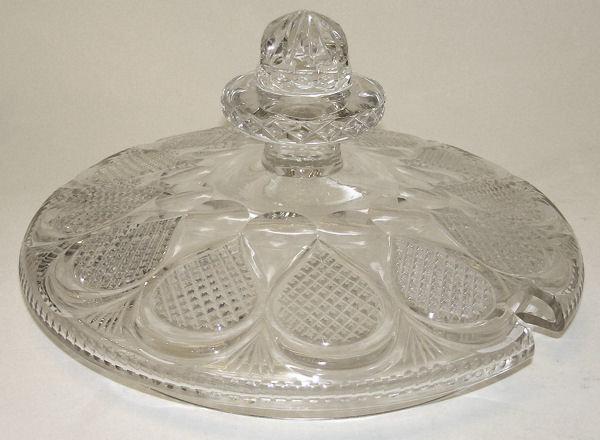 Bohemian Cut Glass Punch Bowl or Tureen