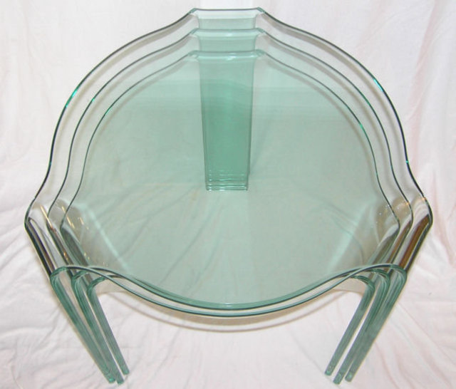 Fiam PACE COLLECTION Glass Tables
