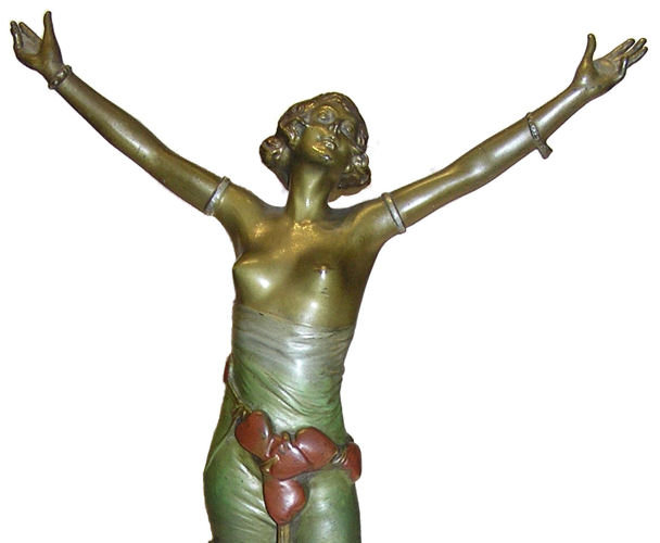 BRUNO ZACH Bronze Female Figurine