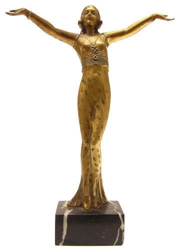 Art Deco Period Female Figurine Sculpture