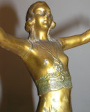 Art Deco Period Female Figurine Sculpture