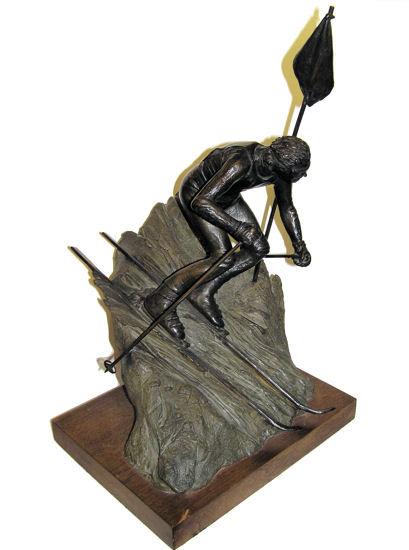 1979 Dan Hill Bronze Skiier Sculpture