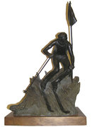 1979 Dan Hill Bronze Skiier Sculpture