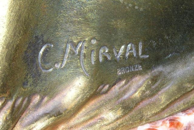 Mirval Art Deco Bronze Dancer Sculpture
