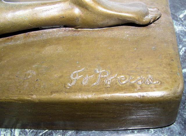 Exotic Dancer Art Deco Bronze Sculpture After Ferdinand Preiss