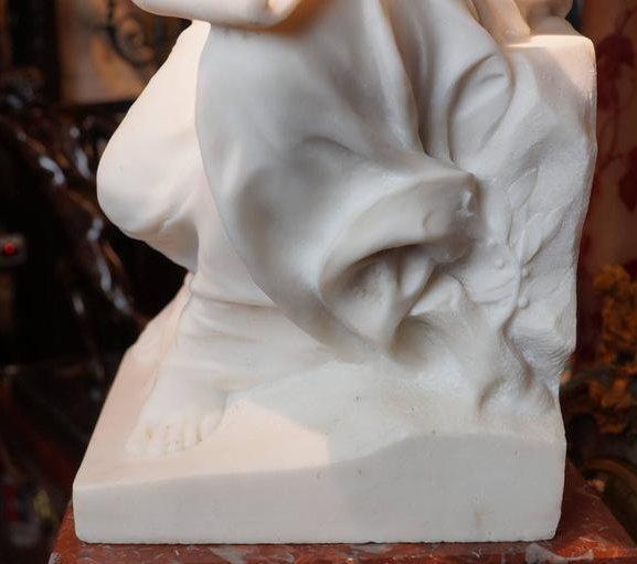 Georges Marie Valentin Bareau (1866-1931) L'Histoire Marble Sculpture
