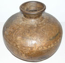 Primitive Riveted Metal Vessel