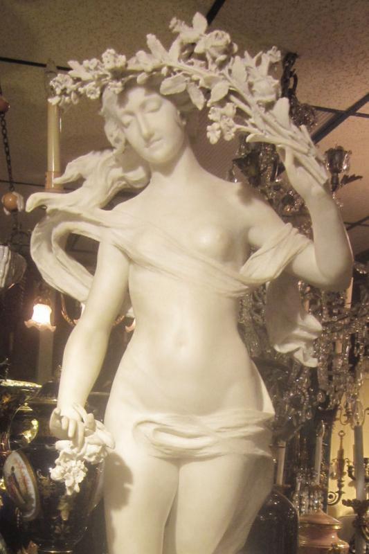 Prof. Aristide Petrilli Marble Statue Allegory for Love