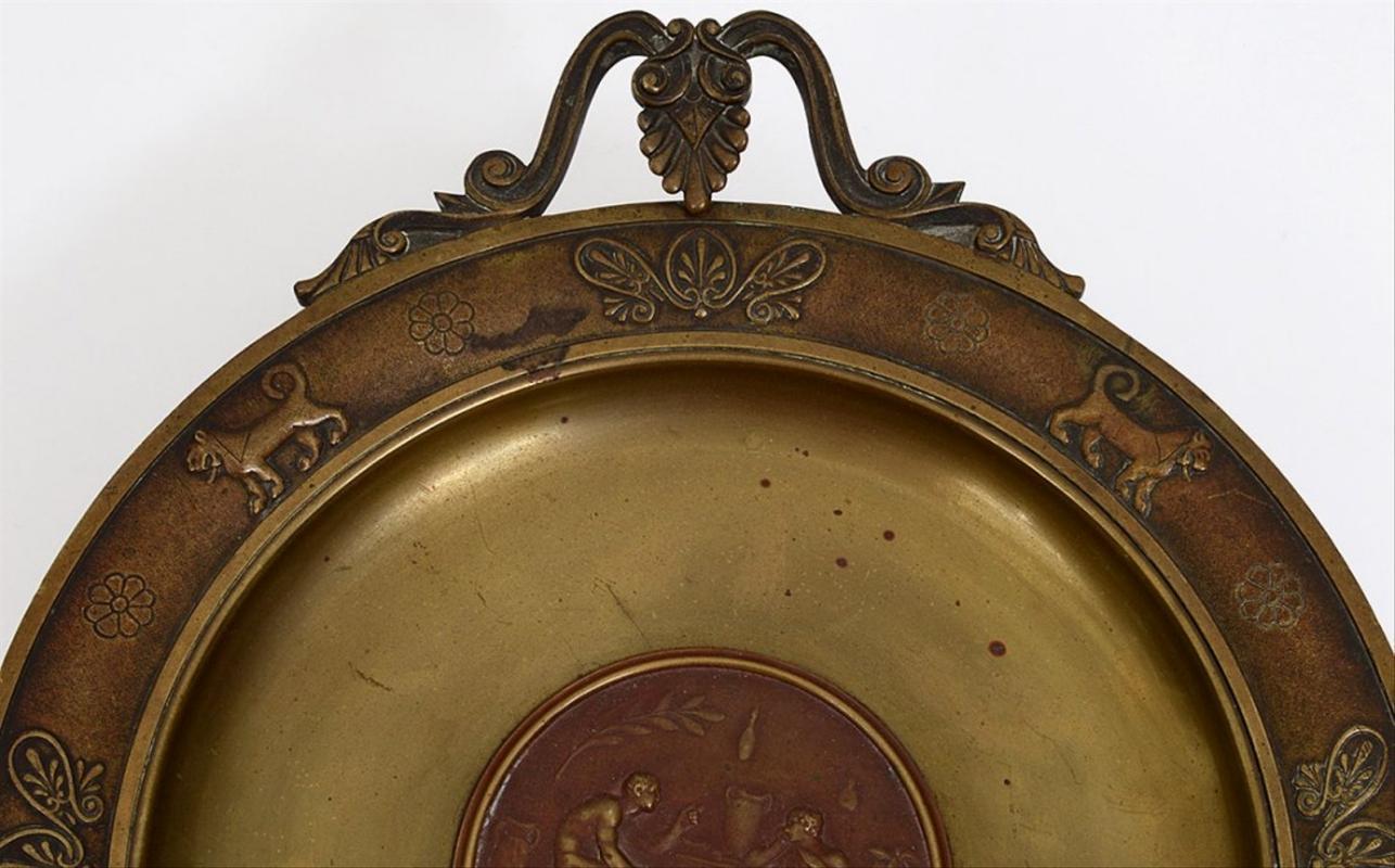 Antique Grecian Neoclassical Bronze Tazza