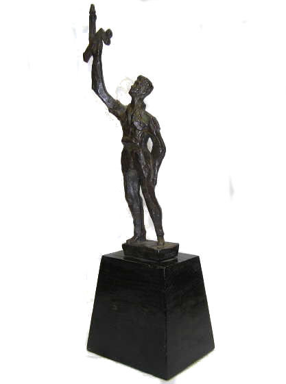 Chaim Gross AFHU Bronze Figurine Sculpture