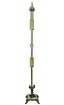 Green Onyx Stone Brass Metal Floor Lamp