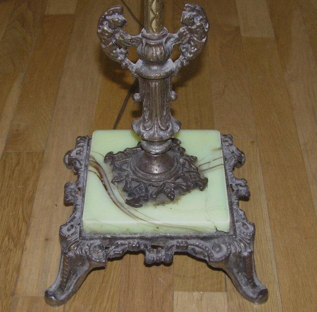 Green Onyx Stone Brass Metal Floor Lamp