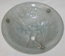Degue French Art Deco Glass Plafonnier Coupe Lamp Chandelier