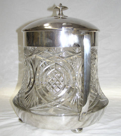 WMF Cut Glass & Silverplated Ice Bucket