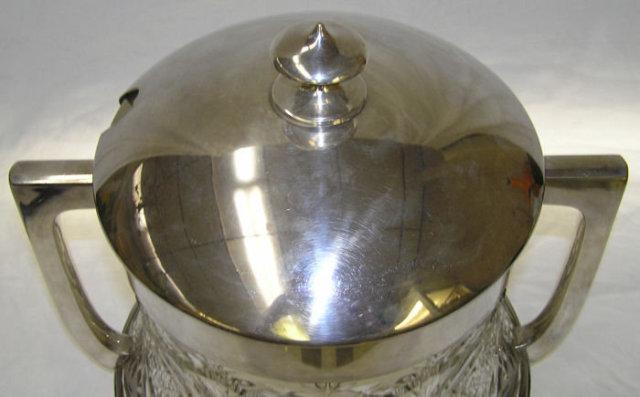WMF Cut Glass & Silverplated Ice Bucket