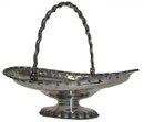 c1860 Antique Tiffany Sterling Silver Basket