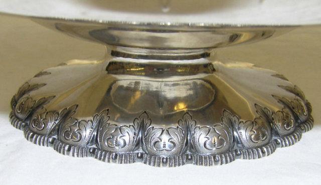 c1860 Antique Tiffany Sterling Silver Basket