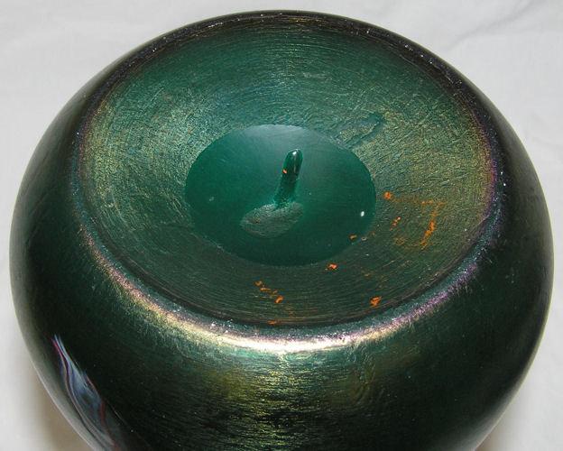 Rindskopf Iridescent Bohemian Glass Vase
