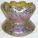 Large Kralik Iridescent Glass Vase