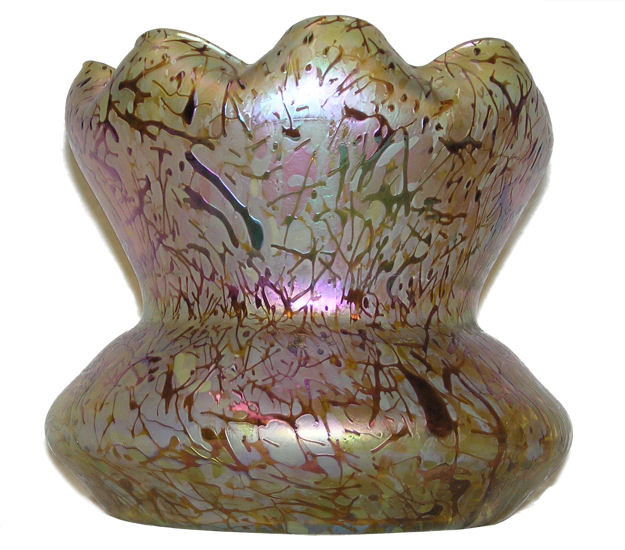 Large Kralik Iridescent Glass Vase