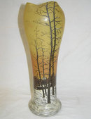Legras Enamelled Glass  w Winter Scene