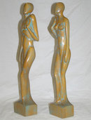 EDWARD STASACK Limed Wooden Figurines